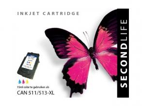 , Cartridge SecondLife Canon CL 511/513 kleur