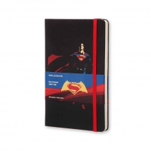 , Moleskine LE Notitieboek Superman notebook Large (13x21 cm) Gelinieerd Zwart