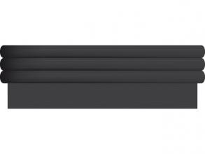 , Kaft- en inpakpapier Kangaro 500x50cm kraft 60gr zwart set à 3rol