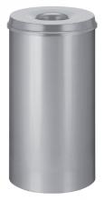 , Papierbak met vlamdover Vepabins 50liter 33.5cm lichtgrijs