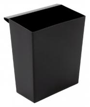 , Inzetbak voor vierkante tapse papierbak zwart