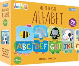 , Puzzeltrein 20 stukjes en boek - Mijn eerste alfabet
