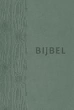 , Bijbel (HSV) - groen leer met duimgrepen