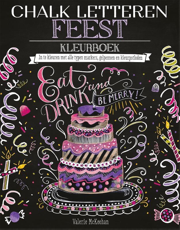Valerie McKeehan,Chalk letteren Feest kleurboek