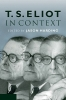 Harding, Jason,T. S. Eliot in Context