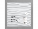 ,glasmagneetbord Sigel Artverum 480x480x15mm White Wave