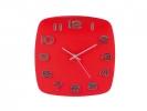 ,wandklok TIQ diameter 315 mm glas rode wijzerplaat