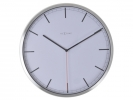 ,Wandklok NeXtime dia. 35 x 4.2 cm, aluminium, wit, `Company`