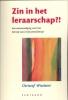 Christof Wiechert,Zin in het leraarschap?!