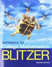 Robert F Blitzer Pathways to College Mathematics