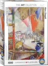 Eur-6000-0853 , Puzzel paris through the window - marc chagall - 1000 stuks