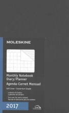 Moleskine Black Large 2017 Monthly Notebook Diary Planner