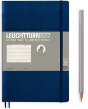 Lt358317 , Leuchtturm notitieboek softcover 19x12.5 cm lijn navy blue