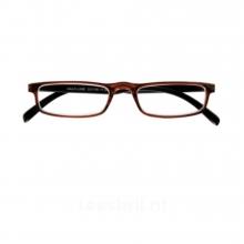 G31100 1.5 , Leesbril relax half-line bruin-zwart 1.5