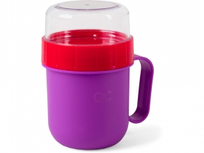 , Quarto colori on the go lunch box violet/vivid rood