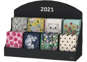 , Agenda 2021 spiraal 10x15 frambozen