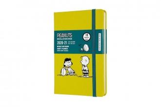 , Moleskine 18 MND Agenda - 2020/21 - LE Planner - Peanuts - Wekelijks - Pocket (9x14 cm) - Ball - Harde Kaft