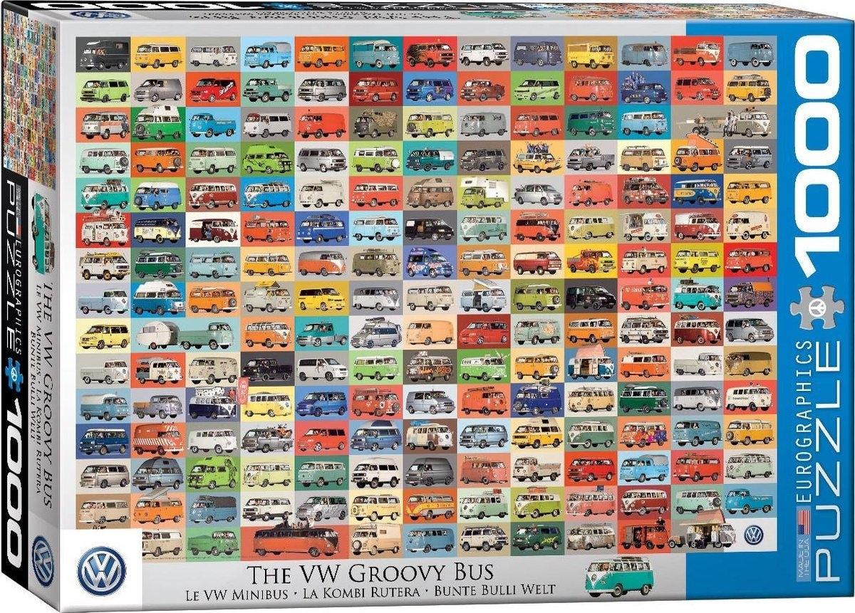 Eur-6000-0783,Puzzel the vw groovy bus eurographics 1000 stuks
