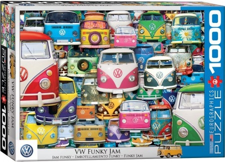 Eur-6000-5423,Puzzel vw funky jam  - eurographics - 1000 - 48 x 68