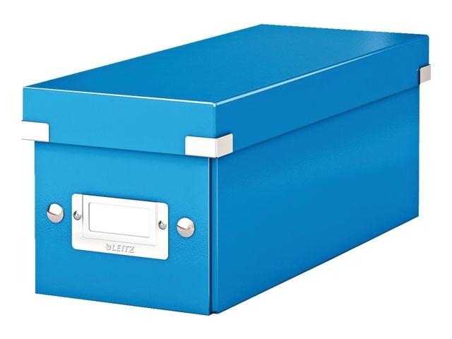 ,Cd box Leitz WOW Click & Store 143x136x352mm blauw