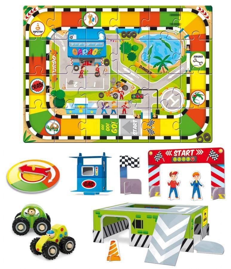 Lud-66834,Bulldozer en puzzel