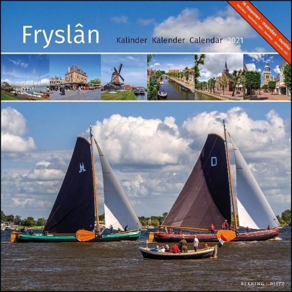 ,Maandkalender friesland fryslan 2021 30x30