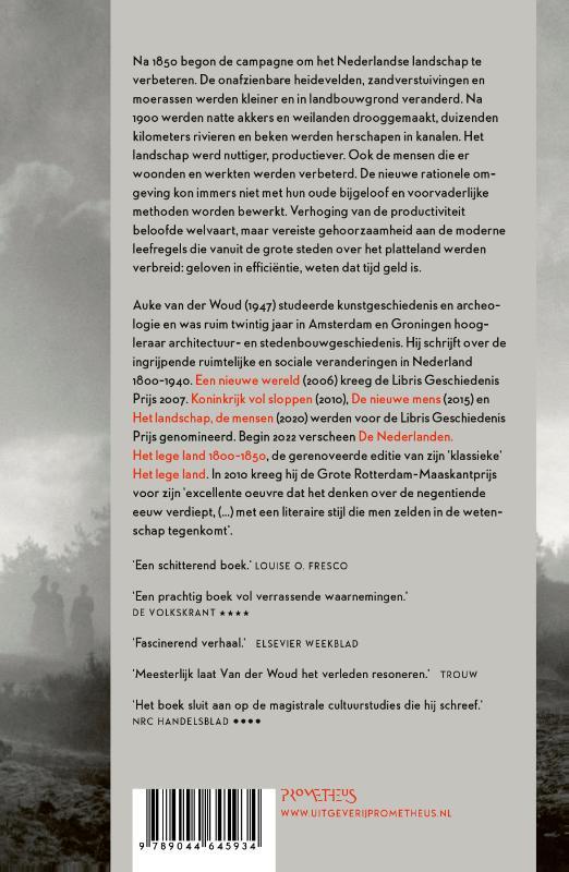 Auke van der Woud,Het landschap, de mensen
