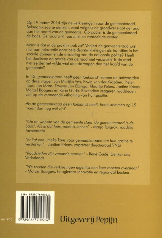 Piet-Hein Peeters, Jasper Loots,De gemeenteraad heeft geen toekomst