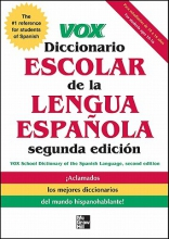 Vox Diccionario Escolar Vox School Dictionary