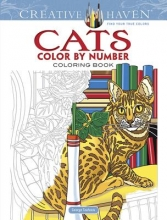 George Toufexis Creative Haven Cats Color by Number Coloring Book