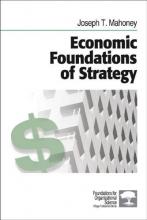 Joseph T. Mahoney Economic Foundations of Strategy