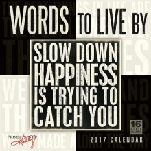 Words to Live by 2017 Calendar
