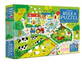 , Op de boerderij Boek & puzzel