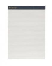 Weskin Lined Notepad Navy Blue Medium