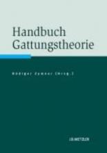 Handbuch Gattungstheorie