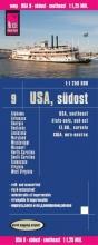 , Reise Know-How Landkarte USA 9 Südost 1 : 1.250.000: Missouri, Kentucky, West Virginia, South Carolina, ...