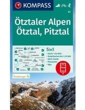 , Kompass WK43 Ötztaler Alpen, Ötztal