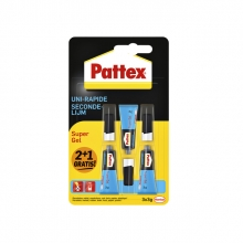 , Secondelijm Pattex super gel 3gr 2+1 gratis