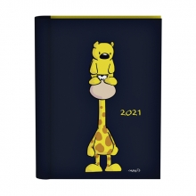 , Agenda 2021 wire-o zwart giraf&beer vis