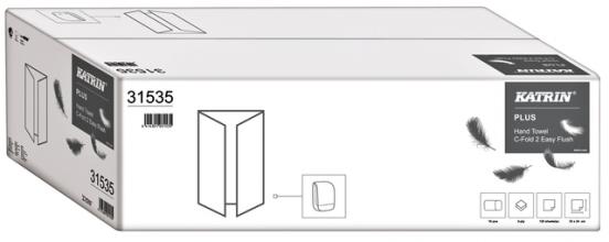 , Handdoek Katrin 31535 Easy Flush C-Fold 2laags 24x33cm 18x125st