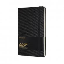 , Moleskine LE Notitieboek James Bond Large (13x21 cm) Gelinieerd Carbon Grijs