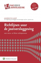 Richtlijnen voor de jaarverslaggeving voor micro- en kleine rechtspersonen 2016