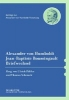 Päßler, Ulrich,   Schmuck, Thomas,Alexander von Humboldt Jean-Baptiste Boussingault, Briefwechsel