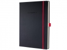 ,notitieboek Sigel Conceptum RED Edition hardcover A4 zwart  geruit