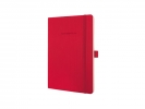 ,notitieboek Sigel Conceptum Pure softcover A5 rood geruit