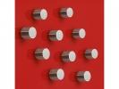,magneet voor glasbord Sigel rond 10mm Strong 10 stuks