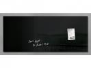 ,glasmagneetbord Sigel Artverum 1300x550x15mm zwart