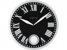 ,Wandklok NeXtime dia. 43 x 4.2 cm, glas, zwart, `Romana`
