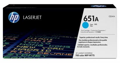 , Tonercartridge HP CE341A 651A blauw