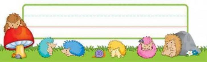 Happy Hedgehogs Nameplates